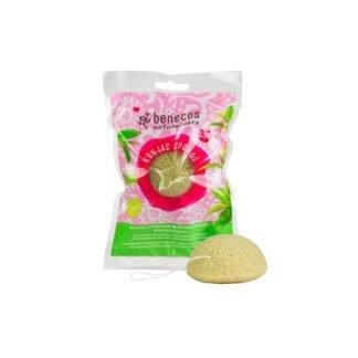 Benecos Konjac Sponge Ihonpuhdistussieni Green Tea