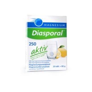 Diasporal Magnesium 250mg 20 Aktiv Poretabletti