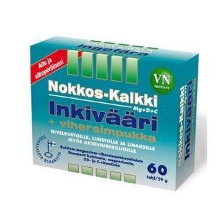 Nokkos-Kalkki-Inkivääri+Vihersimpukka 60 tbl