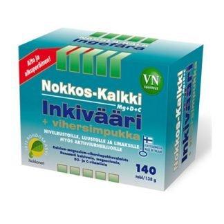 Nokkos-Kalkki-Inkivääri+Vihersimpukka 140 tbl