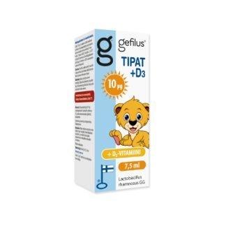 Gefilus Tipat + D 7.5 ml Maitohappobakteeri + D-vitamiini 10 µg