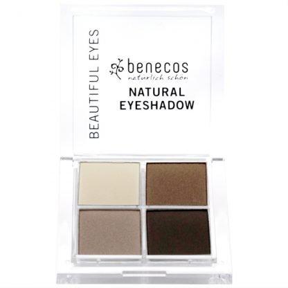 Benecos Natural Quattro Luomiväripaletti Coffee & Cream 8g