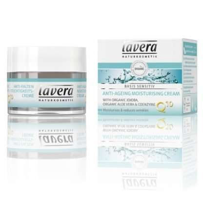 Lavera Basis Sensitiv Anti-ageing Moisturising Cream Q10 Kosteusvoide