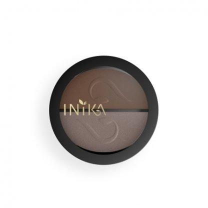INIKA Organic Eyeshadow Duo Luomiväripaletti Choc Coffee 3,9g