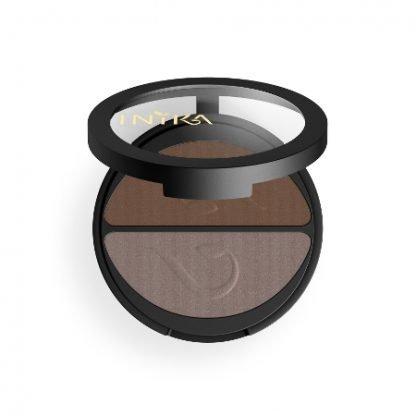 INIKA Organic Eyeshadow Duo Luomiväripaletti Choc Coffee 3,9g kuva 3