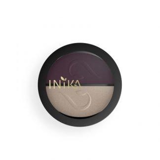INIKA Organic Eyeshadow Duo Luomiväripaletti Plum Pearl 3,9g