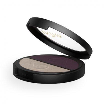 INIKA Organic Eyeshadow Duo Luomiväripaletti Plum Pearl 3,9g kuva 2