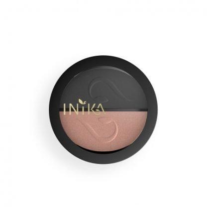 INIKA Organic Eyeshadow Duo Luomiväripaletti Black Sand 3,9g