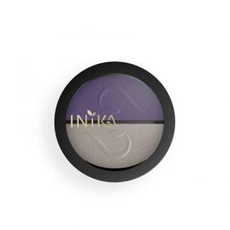 INIKA Organic Eyeshadow Duo Luomiväripaletti Purple Platinum 3,9g