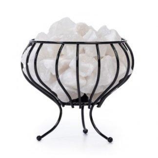 Tuisa Valkoinen Kristallisuola Iron Basket Valaisin