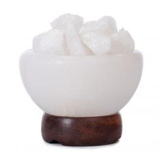Tuisa Valkoinen Kristallisuola Malja Valaisin n. 3kg