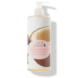 100% Pure Honey & Virgin Coconut Restorative Korjaava Shampoo 390ml