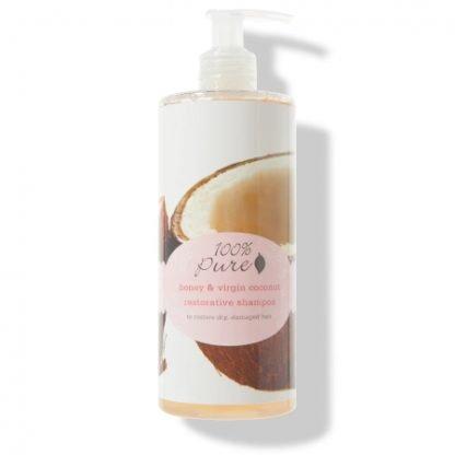 100% Pure Honey & Virgin Coconut Restorative Korjaava Shampoo 390ml