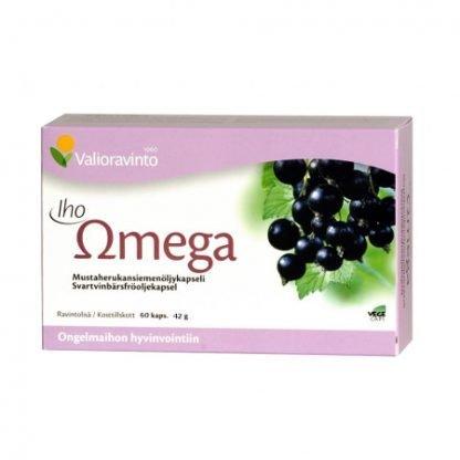 Iho Omega Mustaherukkaöljy 60 Kaps (Pieni Koko)