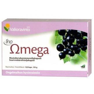 Iho Omega Mustaherukkaöljy 150 Kaps (Iso Koko)