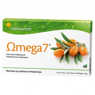 Omega7 Tyrniöljykapseli 60 Kaps (Pieni Koko)