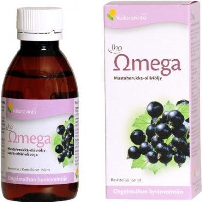 Iho Omega Mustaherukkaöljy + Oliiviöljy 150ml Nestemäinen