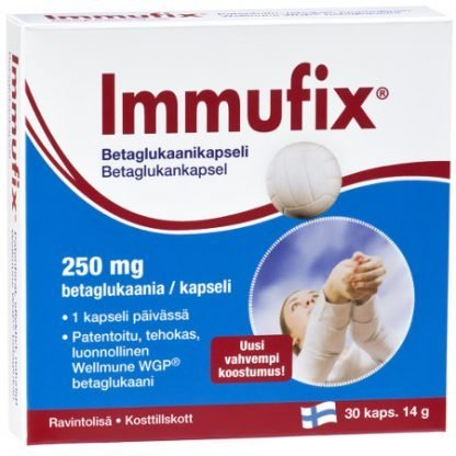 Immufix Betaglukaanikapselit 30Kaps 6428300001659