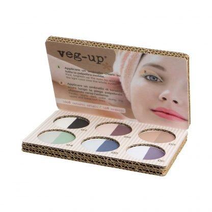 Veg-Up Eyeshadow Palette Veggy Luomiväri Paletti Ekologinen Pakkaus 8052086650497