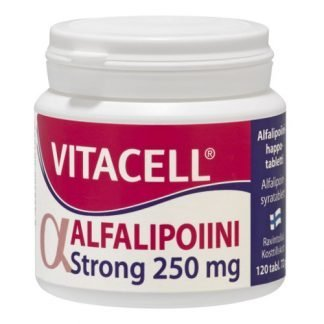 Vitacell Alfalipoiini Strong 250mg 120tbl 6428300001093