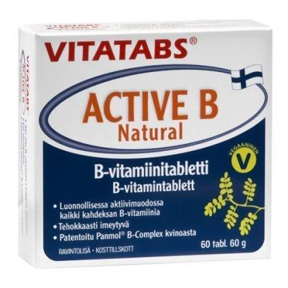 Vitatabs Active B Natural 60tbl 6428300006456