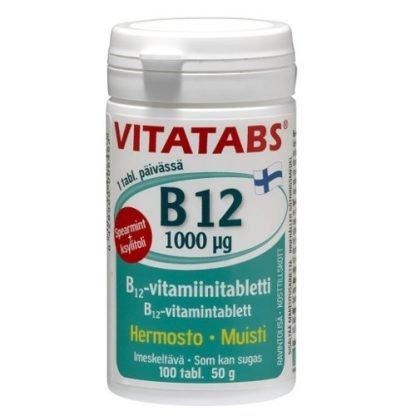 Vitatabs B12 Spearmint 1000µg 100tbl 6428300006463