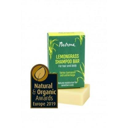 Nurme Lemongrass Shampoo Bar Sitruunaruoho 100g 4742763007358