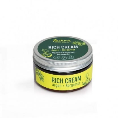 NURME RichCream Argan + Bergamotti Ravitseva Voide 100ml 4742763002902